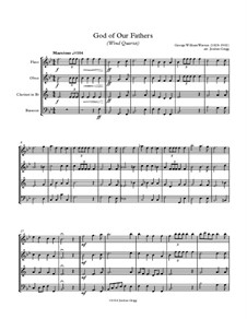 God of Our Fathers: For wind quartet by George William Warren