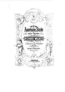The Valkyrie , WWV 86b: Wotan's Farewell and Magic Fire, for two pianos four hands by Richard Wagner