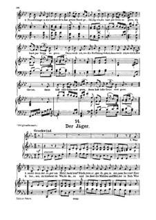 No.14 Der Jäger (The Hunter): For medium voice and piano by Franz Schubert