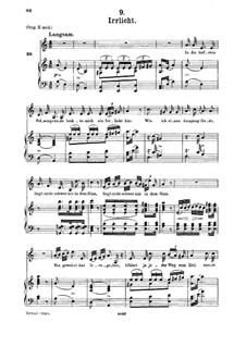 No.9 Irrlicht (Will o' the Wisp): For medium voice and piano by Franz Schubert