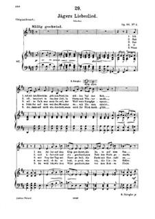 Jägers Liebeslied (Huntsman's Love Song), D.909 Op.96 No.2: For medium voice and piano by Franz Schubert