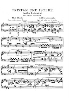 Isolde's Love Death: For piano. Version by L. Winkler by Richard Wagner