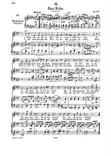 Das Echo (The Echo), D.868 Op.130: For medium voice and piano by Franz Schubert