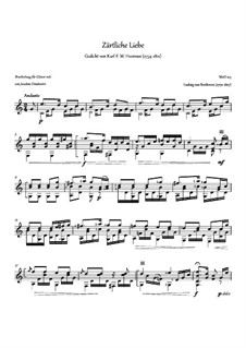 Ich liebe dich (I Love Thee), WoO 123: For guitar by Ludwig van Beethoven