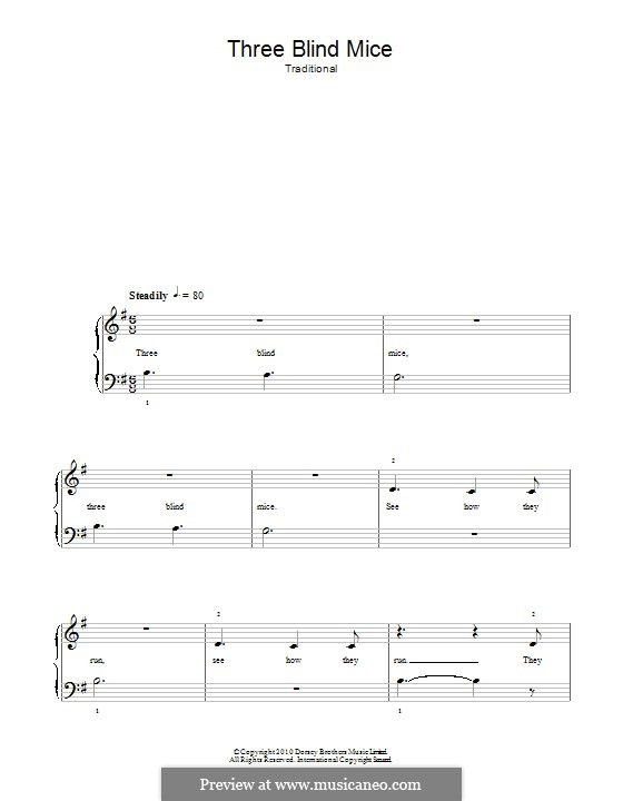 Three Blind Mice: For piano by folklore