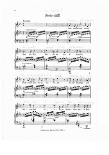 Wesendonck Songs, WWV 91: No.2 Stand Still by Richard Wagner