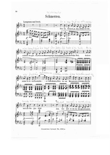 Wesendonck Songs, WWV 91: No.4 Sorrows by Richard Wagner