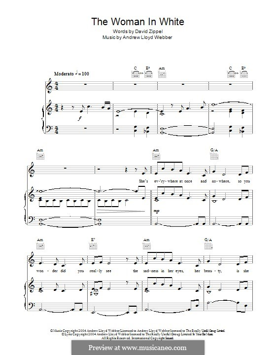 She's everywhere at once and nowhere: For voice and piano (or guitar) by Andrew Lloyd Webber