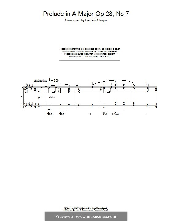 No.7 in A Major: For piano by Frédéric Chopin