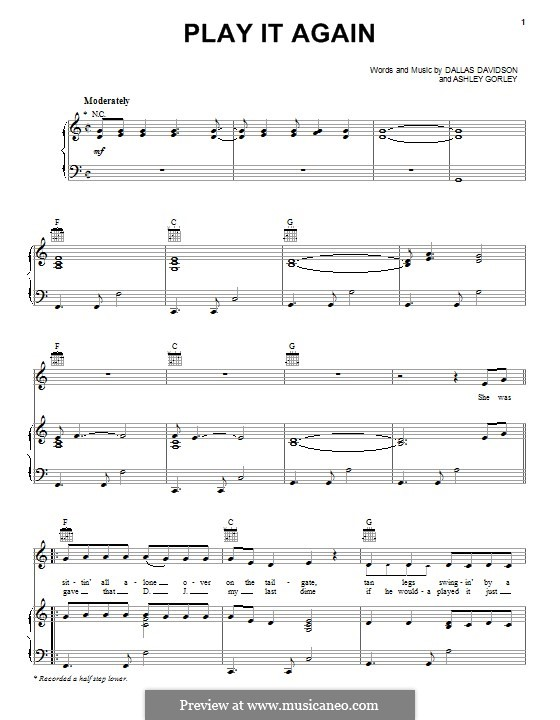 Play it Again: For voice and piano (or guitar) by Ashley Gorley, Dallas Davidson