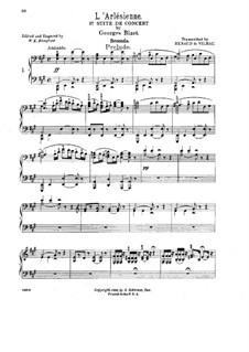 Suite II: For piano four hands by Georges Bizet