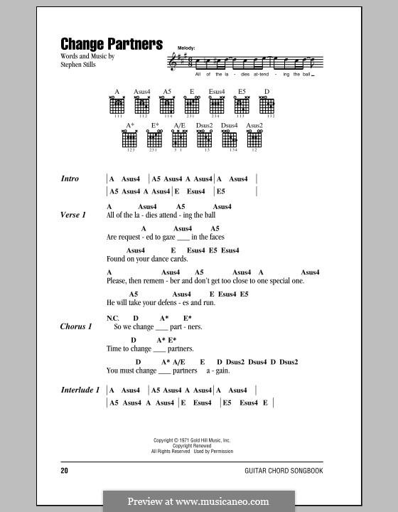 Change Partners (Crosby, Stills & Nash) by S. Stills on MusicaNeo