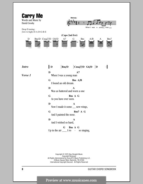 Carry Me (Crosby, Stills & Nash): Lyrics and chords by David Crosby