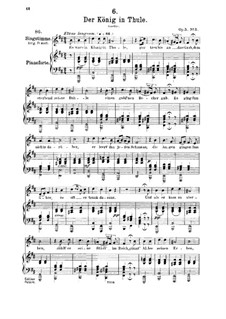 Der König in Thule (The King in Thule), D.367 Op.5 No.5: For medium voice and piano by Franz Schubert