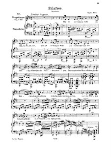 Erlafsee (Lake Erlaf), D.586 Op.8 No.3: For medium voice and piano by Franz Schubert