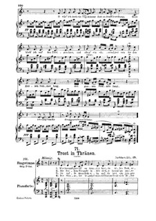 Trost in Tränen (Consolation in Tears), D.120: For medium voice and piano by Franz Schubert