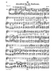 Abendlied für die Entfernte (Evening Song for the Distant Beloved), D.856 Op.88 No.1: For medium voice and piano by Franz Schubert
