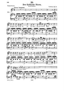 Der liebliche Stern (The Lovely Star), D.861: For medium voice and piano by Franz Schubert