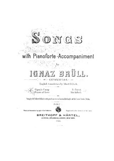 Four Songs, Op.43: No.4 Praise of Love by Ignaz Brüll
