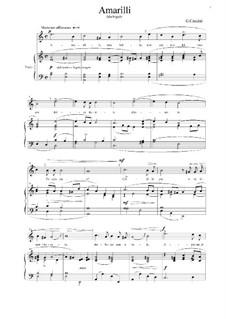 Amarilli, mia bella: A minor by Giulio Caccini