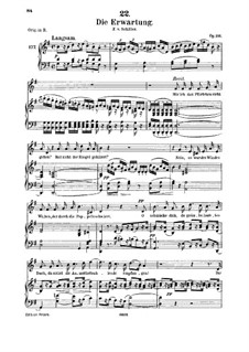 Die Erwartung (Anticipation), D.159 Op.116: For medium voice and piano by Franz Schubert
