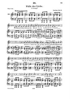 Fülle der Liebe (Love's Abundance), D.854: For medium voice and piano by Franz Schubert