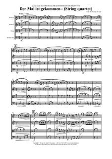 Der Mai ist gekommen: For string quartet by folklore