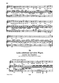 Claudine von Villa Bella, D.239: No.6 Arietta, for high voice and piano by Franz Schubert