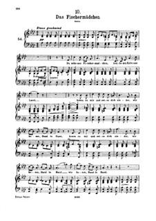 No.10 Das Fischermädchen (The Fisher-Maiden): For high voice and piano by Franz Schubert