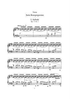 Suite Bourguignonne, Op.17: Suite Bourguignonne by Louis Vierne