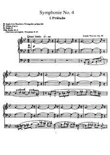 Symphony No.4 in G Minor for Organ, Op.32: Symphony No.4 in G Minor for Organ by Louis Vierne