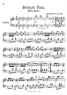 Gourmand-Polka, Op.163: Piano score by Émile Waldteufel