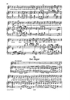 No.14 Der Jäger (The Hunter): For high voice and piano by Franz Schubert