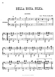 Gourmand-Polka, Op.163: For piano four hands by Émile Waldteufel