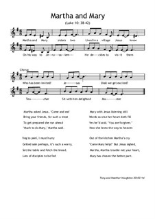 Martha and Mary, Op.1: Martha and Mary by Heather Houghton