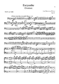 Overture: Cello and double bass part by Carl Maria von Weber