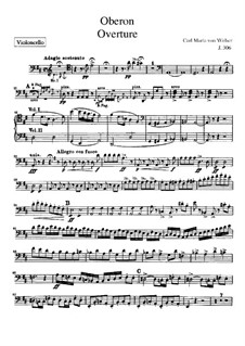 Overture: Cellos part by Carl Maria von Weber