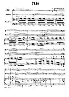 Trio for Flute, Cello and Piano, J.259 Op.63: Full score by Carl Maria von Weber