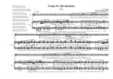 4 Songs for alto and piano based on the poems of Allama Muhammad Iqbal: Song No.7, MVWV 380 by Maurice Verheul