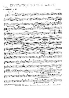 Invitation to the Dance, J.260 Op.65: For clarinet and piano by Carl Maria von Weber