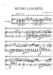 Concerto for Clarinet and Orchestra No.2, J.118 Op.74: Version for clarinet and piano by Carl Maria von Weber