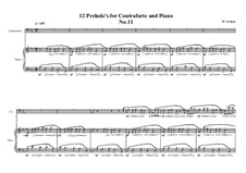 12 Prelude's for Contraforte and Piano: Prelude No.11, MVWV 752 by Maurice Verheul