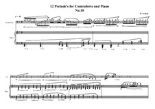 12 Prelude's for Contraforte and Piano: Prelude No.10, MVWV 751 by Maurice Verheul