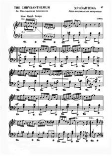 The Chrysanthemum: For piano by Scott Joplin