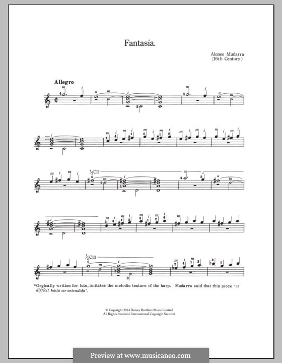Fantasia No.10: For guitar with tab by Alonso Mudarra