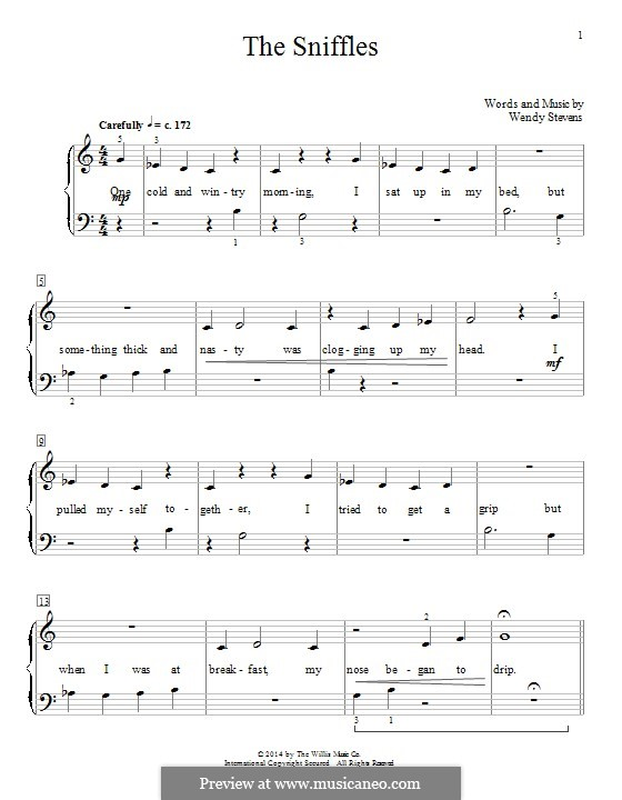 The Sniffles: For piano by Wendy Stevens
