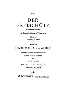 Complete Opera: Piano-vocal score by Carl Maria von Weber