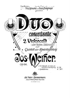 Duo Concertante in A Minor, Op.56: Full score by Josef Werner