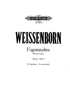 Bassoon-Studies, Op.8: Volume II by Julius Weissenborn