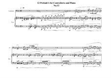 12 Prelude's for Contraforte and Piano: Prelude No.12, MVWV 753 by Maurice Verheul